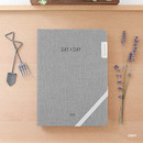 Gray - 2019 Day by Day large dated weekly diary