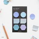Blue - Small sticky note set for monthly and weekly plan