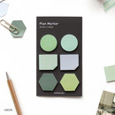 Green - Small sticky note set for monthly and weekly plan