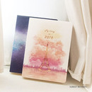 Sunset in Paris - 2019 My story small dated daily diary journal