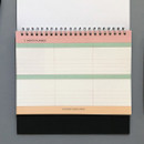 Yearly plan - 6 months undated weekly desk scheduler