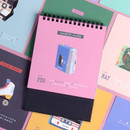 Wanna This 2019 Retro spiral bound desk flip calendar