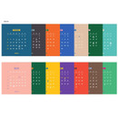 Back page - 2019 Retro spiral bound desk flip calendar