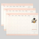NACOO Reading dateless monthly desk scheduler pad