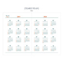 Yearly plan - Tailorbird pattern dateless weekly planner