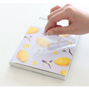 Clear PVC cover - Pour vous fruit undated weekly diary planner