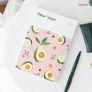 Avocado - Pour vous fruit undated weekly diary planner