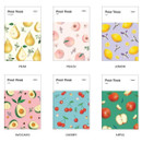 Option - Pour vous fruit undated weekly diary planner