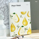 Pear - Pour vous fruit undated weekly diary planner