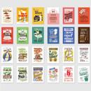 Composition - NACOO Vintage 3 label sticker set
