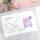 Personal data - 27 Weeks A6 size undated weekly planner