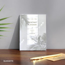 Silhouette - 12 Months A6 size undated monthly scheduler