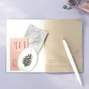 Inner pocket - 12 Months A6 size undated monthly scheduler