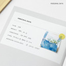 Personal data - 12 Months A6 size undated monthly scheduler