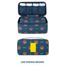 Brown - Line friends travel underwear pouch organizer