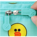Rubber zip sliders - Line friends travel large multi pouch bag organizer