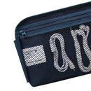 Mesh zippered pocket - Line friends half zip around large cable pouch (2018)