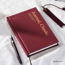 Burgundy - Wanna This Classic journal dateless daily agenda diary