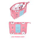 Cony - Line friends travel mesh small pocket pouch