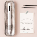 White - Life and pieces 4 in 1 multi gel pen 0.4 mm