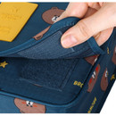 Velcro closure - Line friends pattern travel hanging toiletry bag