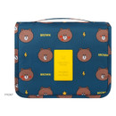 Front - Line friends pattern travel hanging toiletry bag