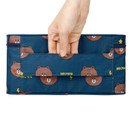 Top handle - Line friends pattern travel hanging toiletry bag