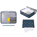 Brown - Line friends large travel packing cube organizer bag (2018)
