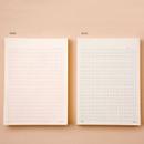 Color - Ardium 400 Squared manuscript paper notepad