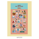 Hipster - Ardium Daily colorful illustration deco paper sticker