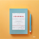 Blue - Vintage new color dateless weekly journal planner