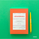 Orange - Vintage new color dateless weekly journal planner