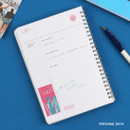 Personal data - Wanna This Clear undated weekly planner