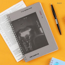 Black - Wanna This Clear undated weekly planner