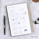 Yearly plan - Wanna This Classic spiral bound dateless weekly planner