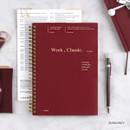 Burgundy - Wanna This Classic spiral bound dateless weekly planner