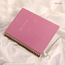 Rose hush - Wanna This Classic wire bound dateless daily scheduler