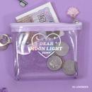 Lavender - Dear moonlight twinkle zipper card case