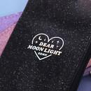 Hologram logo - Dear moonlight twinkle zipper card case with neck strap
