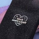 Hologram logo - Dear moonlight twinkle zipper card case with neck strap