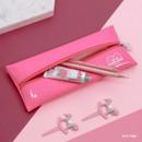 Hot pink - Second mansion Dear moonlight zipper pencil case pouch