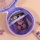 Mesh pocket - Dear moonlight twinkle circle zipper pouch
