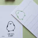Chick - Hello Today Hushed brown twinkle animal message post card