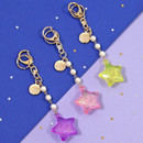 Second mansion Twinkle star acrylic key ring clip holder