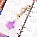 Example of use - Twinkle star acrylic key ring clip holder