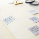 Blue - Note small sticky memo set for monthly and weekly plan
