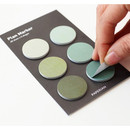 Round small sticky notepad for monthly and weekly plan