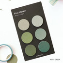 Moss green - Round small sticky notepad for monthly and weekly plan