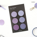Purple - Round small sticky notepad for monthly and weekly plan