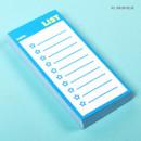 Neon blue - Lucalab Neon small checklist memo notepad